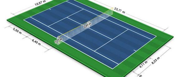 Campo da tennis Regolamentare